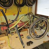 Pyörä kunnostuksessa